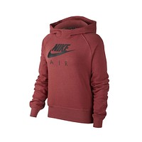 Nike Women's NSW Air Hoodie Maroon Black