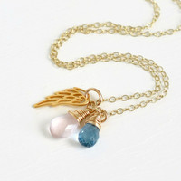 Boy Girl Twins Miscarriage Necklace