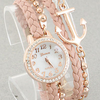 Anchor Bracelet Watch in Blush from P.S. I Love You More Boutique