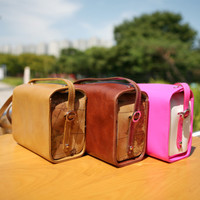 Leather Instax Camera Bag