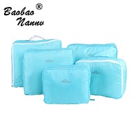 5 PCS/Set Fashion Durable Waterproof Polyester Travel Bags For Men Women Luggage Underwear Clothing