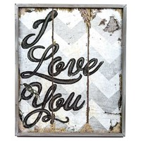 Distressed Chevron I Love You Sign | Hobby Lobby | 958116