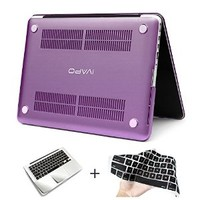 iVAPO 2 in 1 Frosted Matte Premium PC Hard Cover [Attached Keyboard Cover & Palm Rest Protector] Stable Case Fascinating Purple Color For Macbook (MM479P) (13.3 inch Macbook pro)