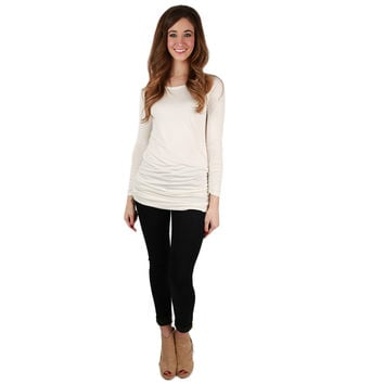 Smooth Sailing Tee in Ivory