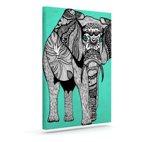 """Pom Graphic Design """"Elephant of Namibia Color"""" Outdoor Canvas Wall Art"""