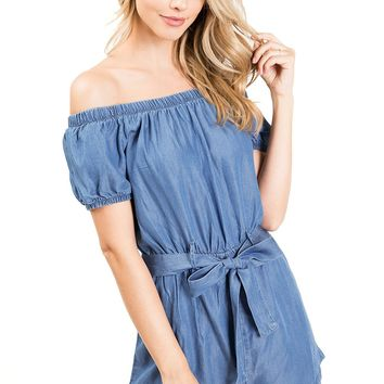 Polly Chambray Romper
