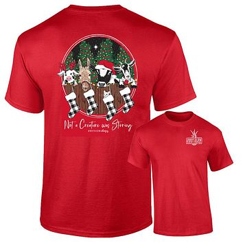 Southernology Creature was Stirring Holiday Comfort Colors T-Shirt