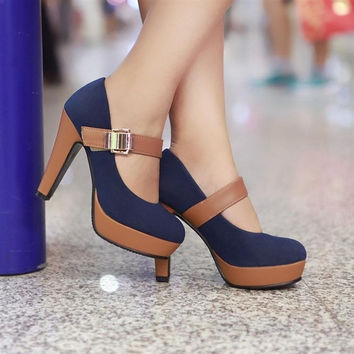 news high heel shoes heels women dress footwear fashion buckle sexy pumps P2583 hot sale size 34-39 = 1946599428
