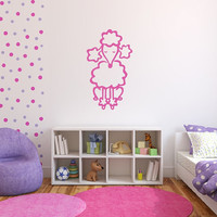 French Poodle Style A Vinyl Wall Decal Girls Room Nursery Decor 22391