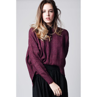 Q2 Purple maxi sweater with dropped shoulders
