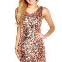 Disco Gold Wide Strap Textured Party Dress