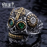 Gothic Carving Skull Ring