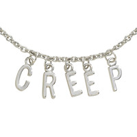 Blackheart Creep Hanging Letters Necklace