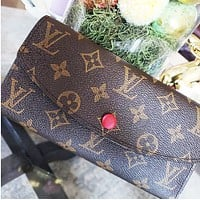 LV tide brand female button long wallet card holder