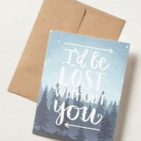 1canoe2 I'd Be Lost Without You Card in Blue Size: One Size Books