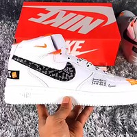 Nike Air Force 1 x Off-white high-top sports running shoes