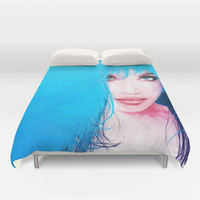 MonGhost XI - TheBlueDream Duvet Cover by LilaVert