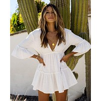 White Beach Tunic Dress Sarong Bathing Suit