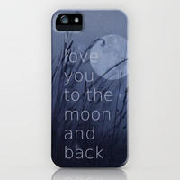 I love you to the moon and back iPhone Case by SUNLIGHT STUDIOS