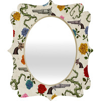 Belle13 Sweet Guns And Roses Quatrefoil Mirror
