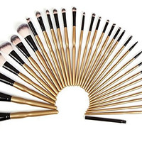 Smilesun 32 Piece Brush Set Professional Cosmetic Brush Beauty Makeup Kit With PU Leather Pouch(Free Silicone Brush Cleaner tool+Powder Puff)