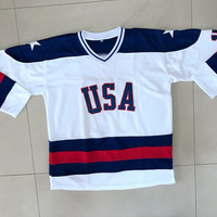 Ice Hockey Jersey Vintage 1980 Miracle On Ice Team USA Jack O'Callahan 17 Hockey Jersey White All stitched