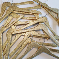Gold Glitter Wedding Hanger