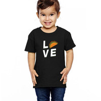 taco mexican love funny Toddler T-shirt