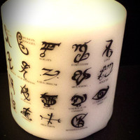 The Mortal Instruments Runes Candle