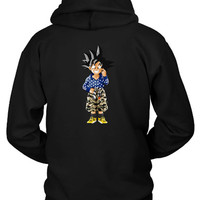 Bape Goku Hoodie Two Sided