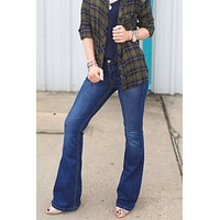 Jackie Dark Denim Flare Jeans