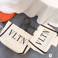 Valentino fashion canvas Shopping bag