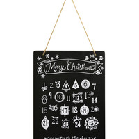 "Fab Lab™ 8""x10"" Advent Calender Chalkboard with Jute Hanger 