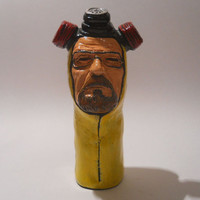 PIPE-Breaking Bad-Walter White cook-ceramic handmade smoking pipe