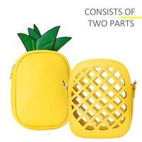 Yuboo Mother Day Gift, Women's Fashion Shoulder Bag,Pineapple Shaped Pu Leather Purse