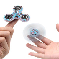 2017 Fidget Spinner Camouflage Camo Colorful ABS EDC Gift Toy Gyro Cross Style Hand Tri Fingertip Custom Logo With Retail Box For Kids Adult