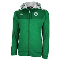 adidas Boston Celtics On-Court Pregame Full Zip Hoodie - Kelly Green