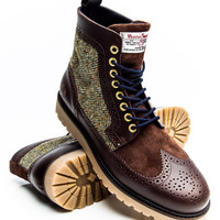 Fred Perry B5283 Northgate Boot Harris Tweed
