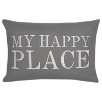 "Happy Place Decorative Pillow 13"" X 20"" 