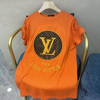 Louis Vuitton LV new letter print men's and women's T-shirt top