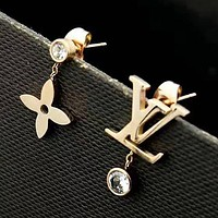LV Louis Vuitton Women Fashion Diamonds Stud Earring