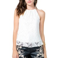 Lace Chain Halter Top