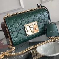 Gucci cowskin Genuine Leather Women cross body bag