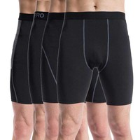 Compression Shorts New Stretchy Shorts Men Knee Length Tight Men Breathable Elastic Tight Shorts Homme