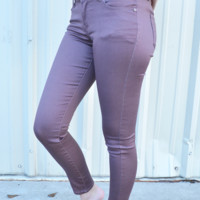 Living In Color Jeans: Pale Purple
