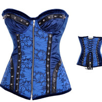Body Waist Shaper Sexy Palace Vintage Zippers Stylish Rivet Punk Corset [4965309060]