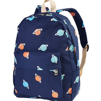 Saturn Pattern Backpack
