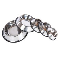 DCCKU7Q 2016 Pet Dog Stainless Steel Non Slip Feeding Food Water Dish Bowls for Pets Dog Cat