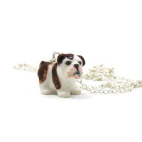 Bulldog Necklace, Charm Necklace, Charm Jewelry, Bulldog Pendant, Bulldog Jewelry, Bulldog Charm, Jewelry Gift, Dog Necklace
