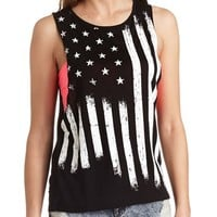AMERICAN FLAG GRAPHIC MUSCLE TEE